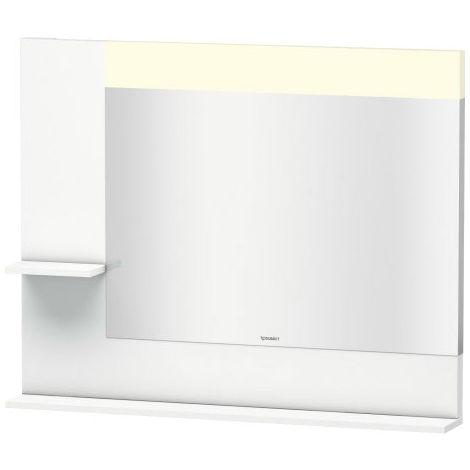 Espejo Vero Duravit con baldas laterales izquierda e inferior, 7312, 1000mm, Color (frente/cuerpo): Blanco Lila Seda Laca mate - VE731208787