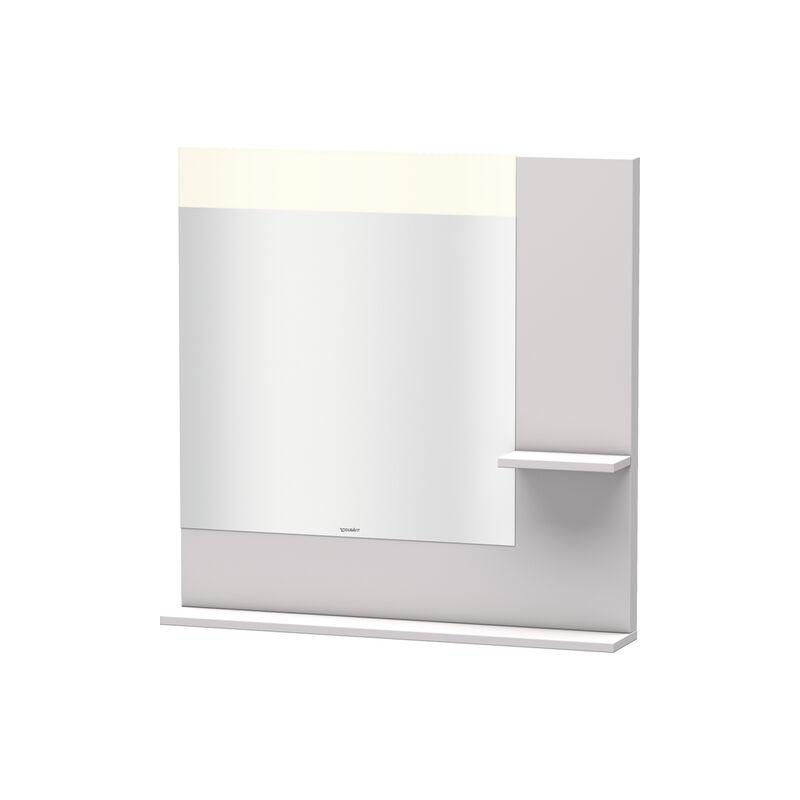Espejo Vero Duravit con estantes a la derecha e inferior, 7321, 800mm, Color frente/cuerpo: Blanco Lila Seda Laca mate - VE732108787