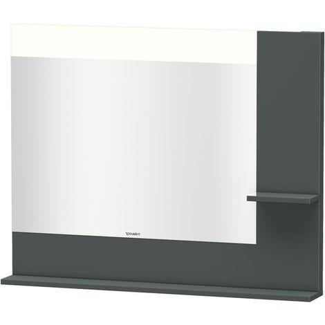 Espejo Vero Duravit con estantes en la parte derecha e inferior, 7322, 1000mm, Color (frente/cuerpo): Laca de alto brillo Dolomiti Grey - VE732203838