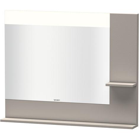 Espejo Vero Duravit con estantes en la parte derecha e inferior, 7322, 1000mm, Color (frente/cuerpo): Terra Mate - VE732201414