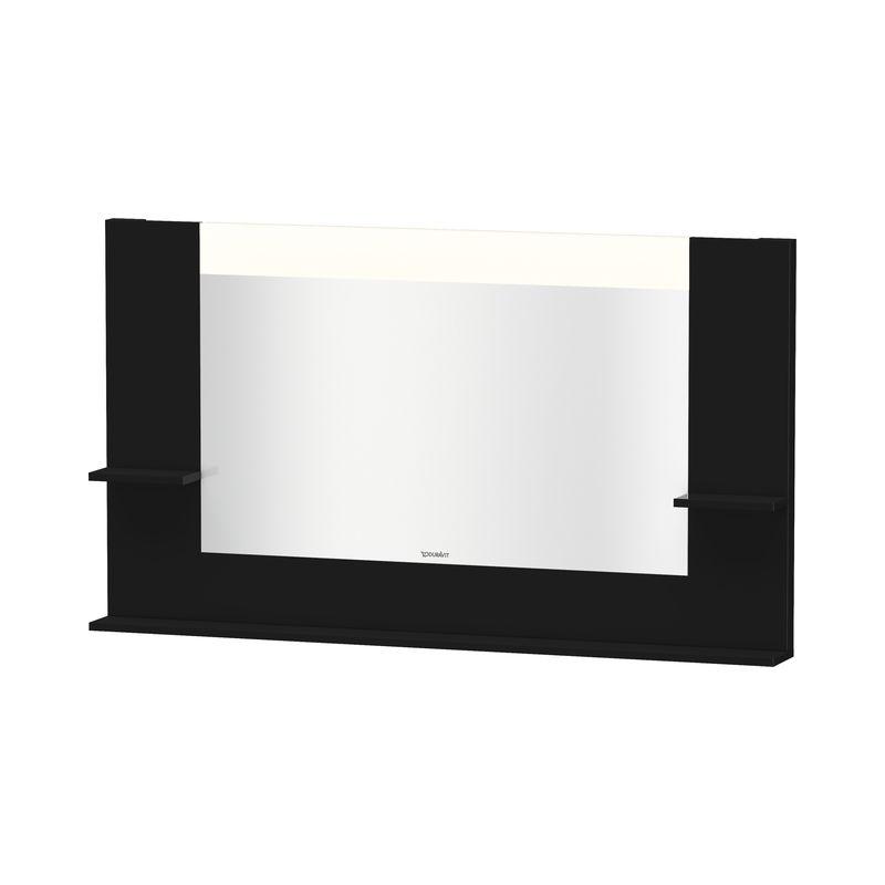Duravit Ag - Espejo Vero Duravit con estantes izquierda/derecha e inferior, 7353, 1400mm, Color frente/cuerpo: Laca negra de alto brillo