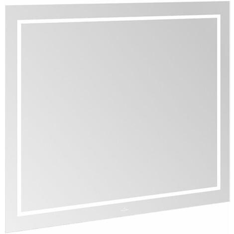 Espejo Villeroy & Boch Finion G61010, 1000 x 750 x 45 mm, con iluminación LED, con iluminación de pared, sistema de sonido, calefacción de espejos - G6101000