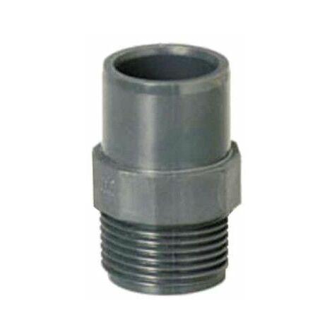 """Espiga roscada PLASSON - Reducida - Macho-Hembra - PN10 - D16/20 - 1/2"""" 40913W"""