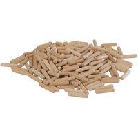 Espigas de madera, 200 pzas 6 x 30 mm
