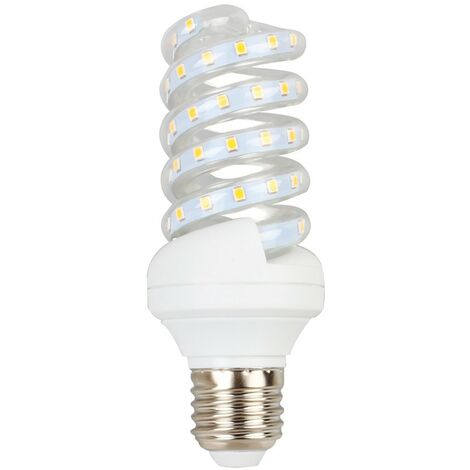 Espiral LED Bulbo E27 11W | Temperatura de color: Blanco cálido 3000K