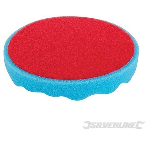 Esponja de pulido con velcro (150 mm. media. azul)
