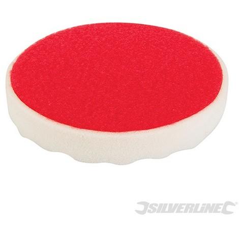 Esponja de pulido con velcro (150 mm. rígida. blanco)