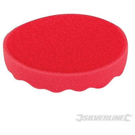 Esponja de pulido con velcro (150 mm. ultra blanda. rojo)