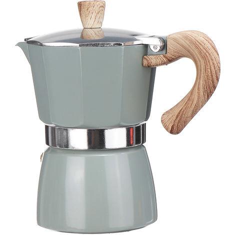 Espresso coffee maker Cooker Moka plate Aluminum 300ML Light green