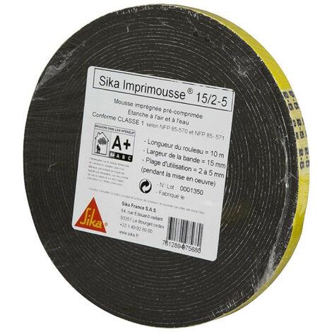 Espuma de poliuretano precomprimida SIKA Espuma para impresoras - 15x2x5mm - 10m