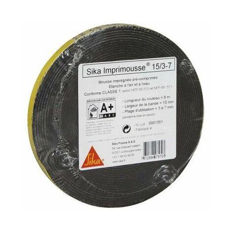 Espuma de poliuretano precomprimida SIKA Espuma para impresoras - 15x3x7mm - 8m