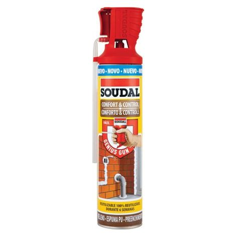 Espuma genius comfort&control Soudal 600 ml