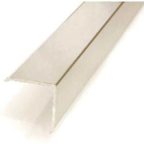 Esquinero adhesivo 28x28mm aluminio plata 2m
