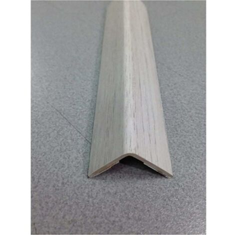 Esquinero paredes adhesivo 25x25x2,60mt pvc roble polar rufete 41551