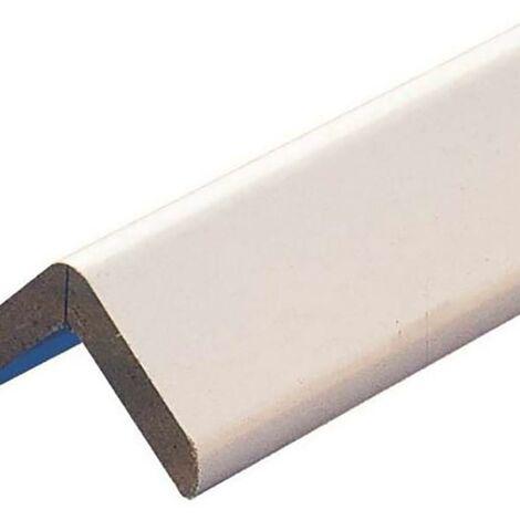 Esquinero Paredes Adhesivo 40X40X2,60Mt Mdf Melamina Blanco Rufete 71082