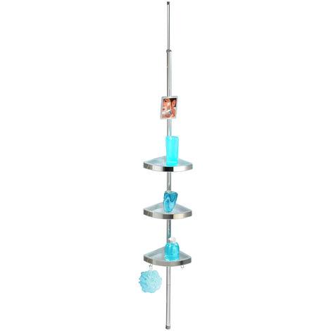 Esquinero telescópico para la ducha Premium brillante WENKO
