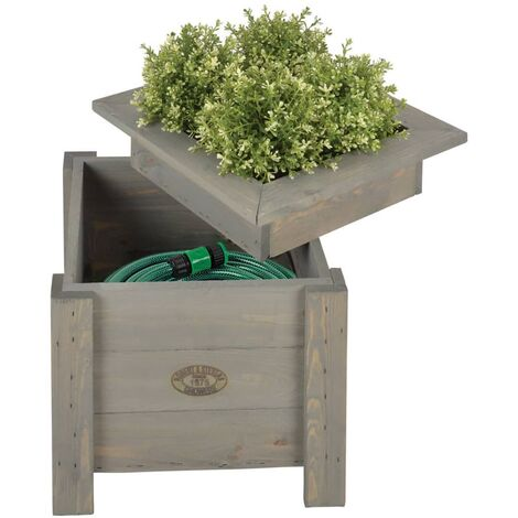Esschert Design 2-in-1 Planter with Hose Storage NG47