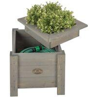 Esschert Design 2-in-1 Planter with Hose Storage NG47