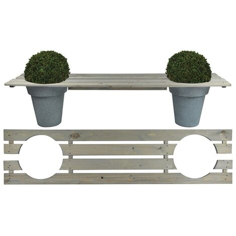 "main image of ""Esschert Design Banco jardinera 180 cm NG71 - Gris"""