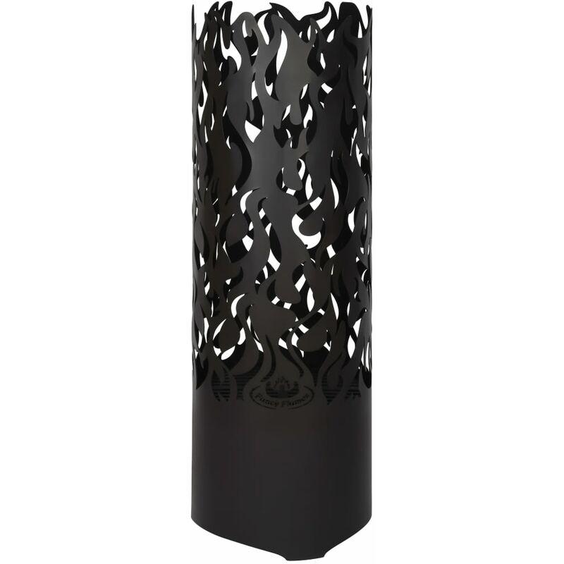 Esschert Design Baril à feu Flames Acier au carbone Noir FF408