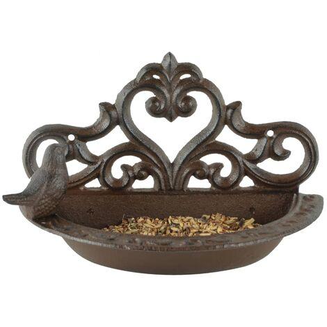 Esschert Design Bird Feeder Brown Cast Iron BR26 - Brown