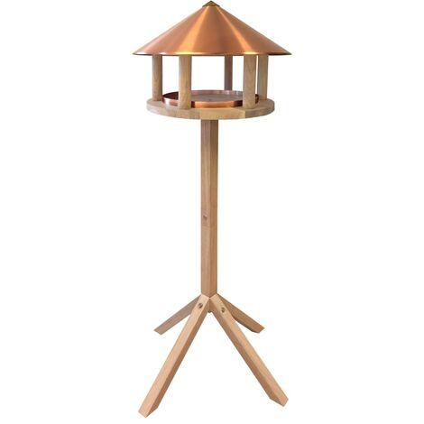 Esschert Design Bird Table Oak Round Copper
