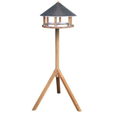 Esschert Design Bird Table Triangular Zinc Roof FB431 - Brown