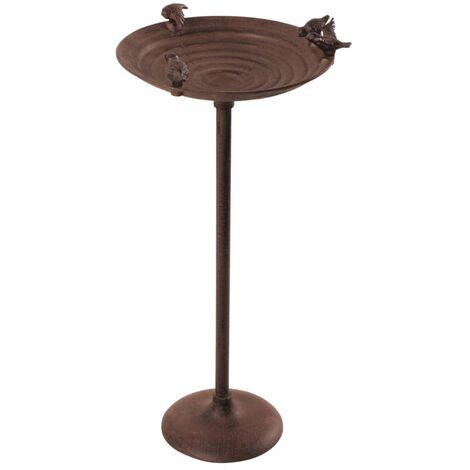 Esschert Design Birdbath On Pole Cast Iron