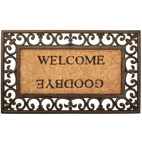 Esschert Design Doormat Welcome/Goodbye Rubber RB12