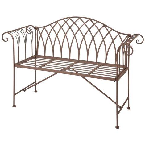 Esschert Design Garden Bench Metal Old English Style MF009 - Brown