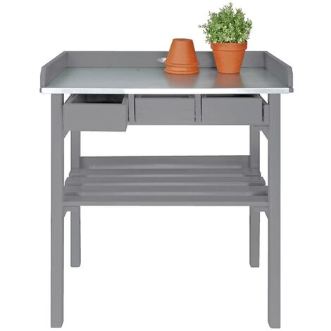 Stupendous Esschert Design Garden Work Bench Grey Cf29G Gmtry Best Dining Table And Chair Ideas Images Gmtryco