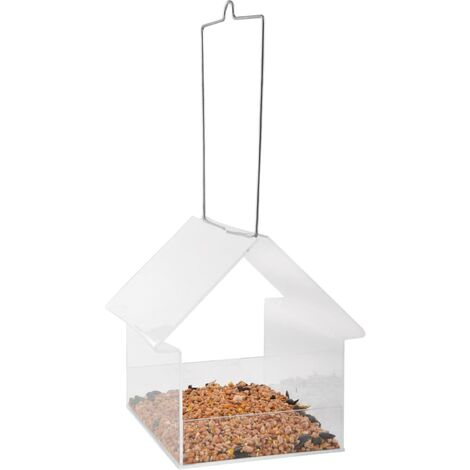 Esschert Design Hanging Birdtable House Acrylic