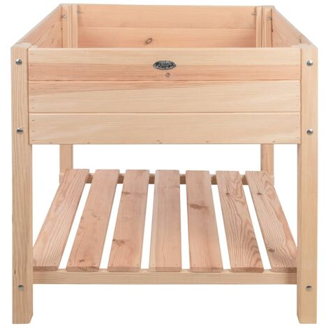 Esschert Design Mesa de cultivo vacía madera clara XL - Marrón