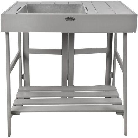 Esschert Design Mesa para macetas gris - Gris