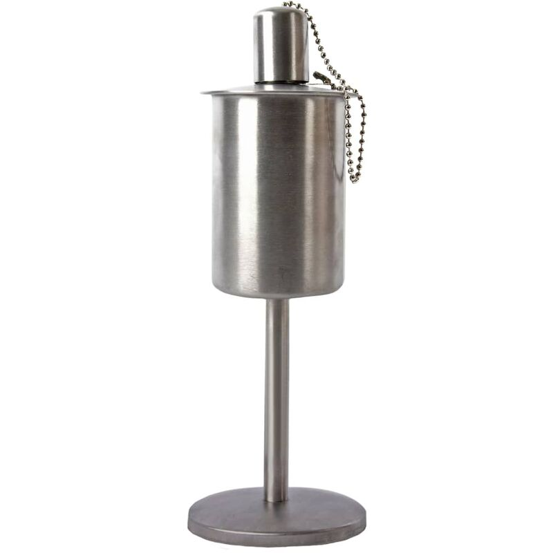 Image of Oil Torch Standing Stainless Steel - Silver - Esschert Design