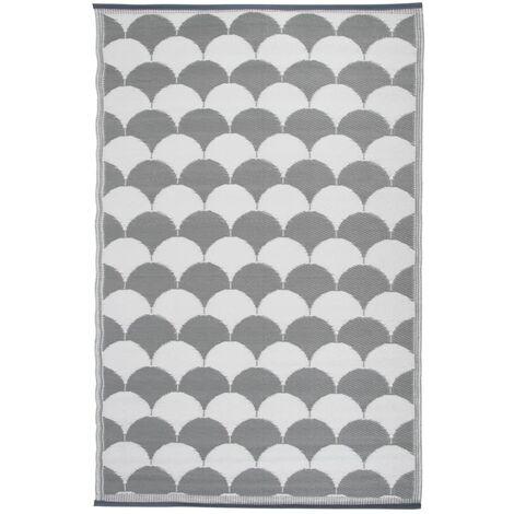 Esschert Design Outdoor Carpet Graphics 180x121 cm Grey and White OC24