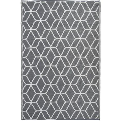 "main image of ""Esschert Design Outdoor Rug Graphics 180x121 cm Grey and White OC25 - Multicolour"""
