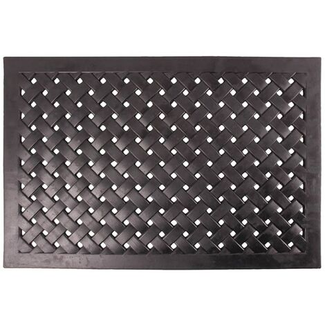 Esschert Design Rubber Doormat Half Round Braided RB37