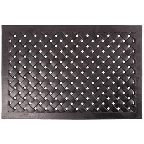 Esschert Design Rubber Doormat Rectangular Braided L RB38