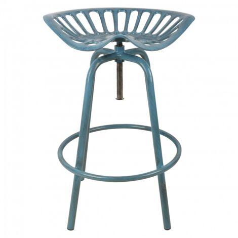 Esschert Design Tabouret de Bar Chaise Siège Jardin Extérieur Rouge/Bleu