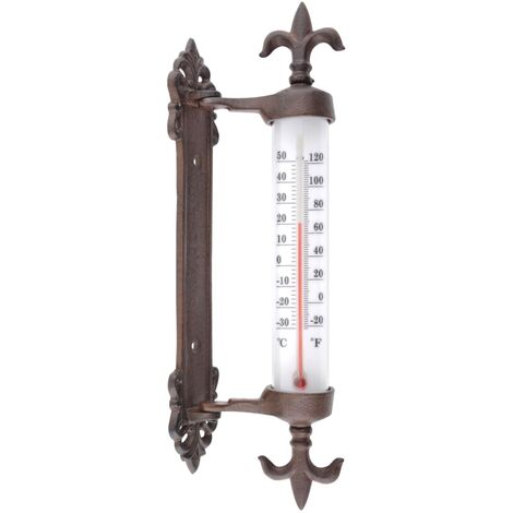 "main image of ""Esschert Design Termómetro para marco de ventana hierro fundido"""