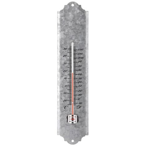 Esschert Design Wall Thermometer Scrap Zinc 30 cm OZ10