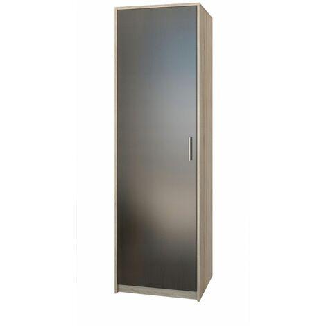ESSEN | Petite armoire contemporaine chambre/bureau/studio | 180x55x42 cm | Penderie | Meuble de rangement | Sonoma/Wenge - Sonoma/Wenge