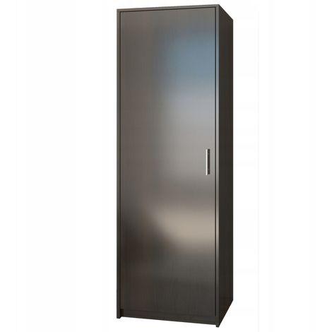 ESSEN | Petite armoire contemporaine chambre/bureau/studio | 180x55x42 cm | Penderie | Meuble de rangement | Wenge - Wenge