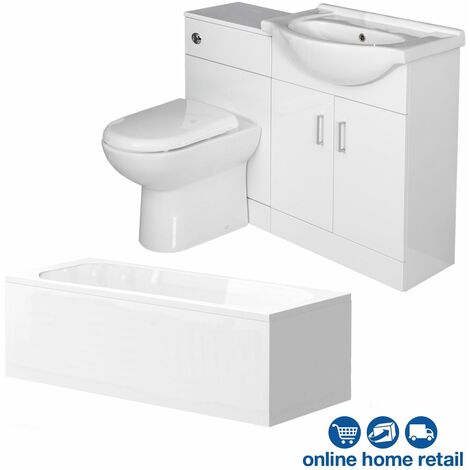 Essence Vanity Unit Bathroom Suite with 1150mm Vanity Unit