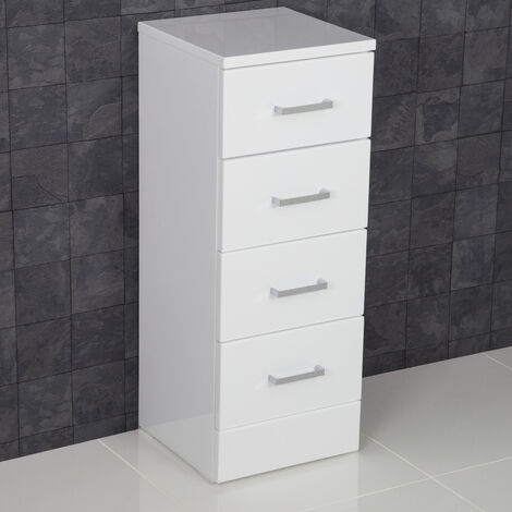 Essence White Gloss 300 x 330 4 Drawer Unit