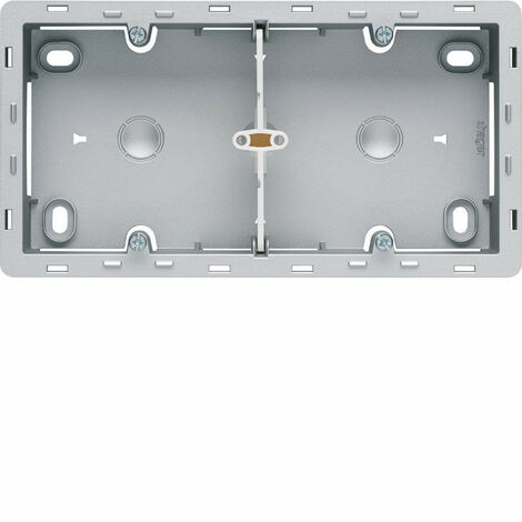 essensya Boîte 2 postes Titane pour montage en saillie (WE682T)