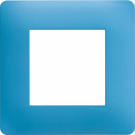 essensya Plaque 1 poste Bleu émail (WE441)