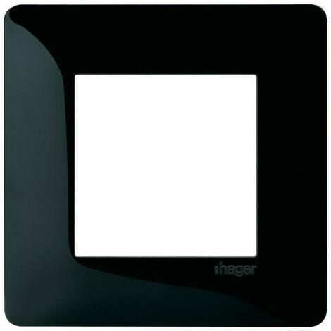 Essensya plaque 1 poste Noire (WE401N)
