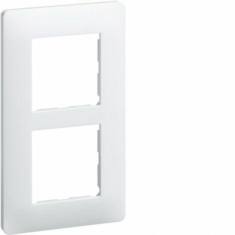 Essensya plaque 2 postes verticale entraxe 57mm, Blanc (WE406)
